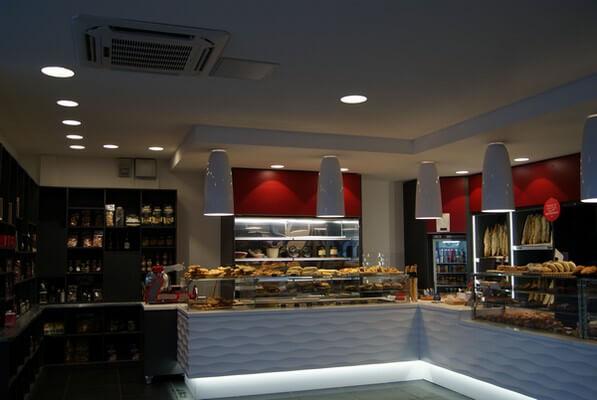 Climatisation et Vitrine réfrigérée Boulangerie